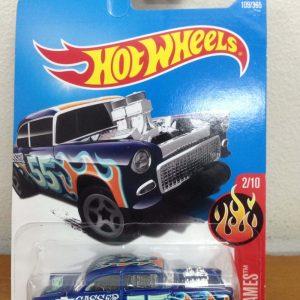 Hot Wheels 55 Chevy Bel Air Gasser blue