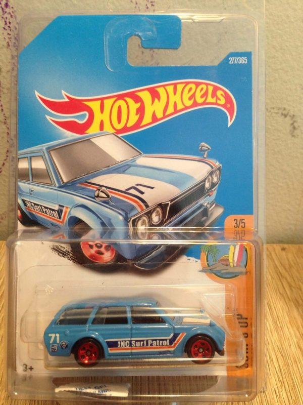 Hot Wheels Langka 71 Datsun Bluebird 510 Wagon Biru