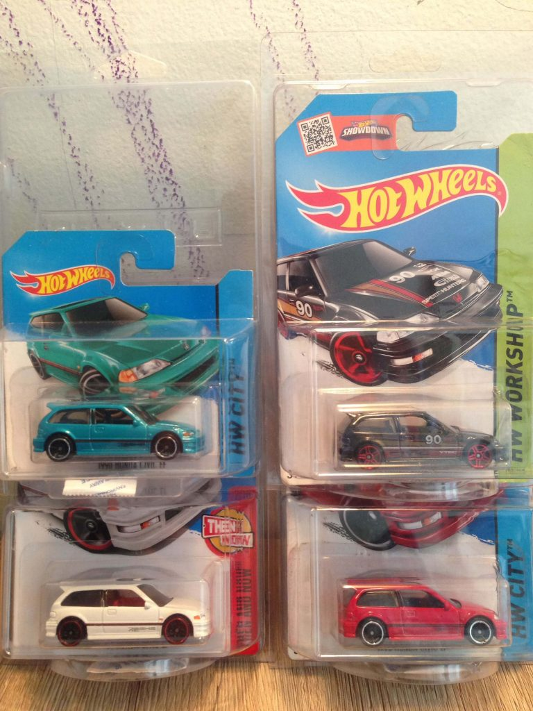 Hot Wheels Langka Civic EF 90 Putih. Tosca. Merah. Hitam - Diecasnesia