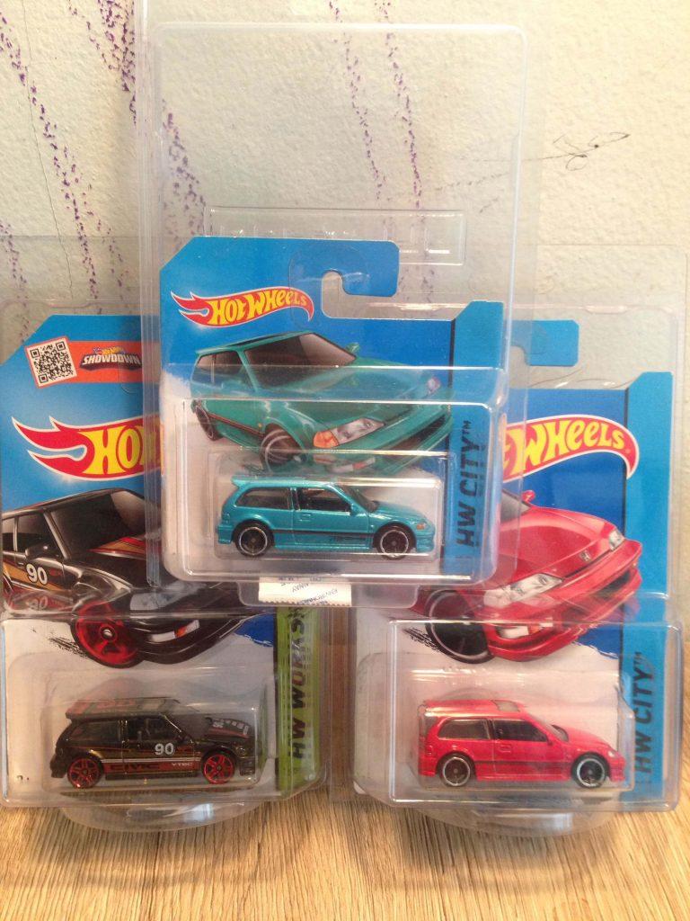 Hot Wheels Langka Civic EF 90 Tosca Short Card. Merah. Hitam - Diecasnesia