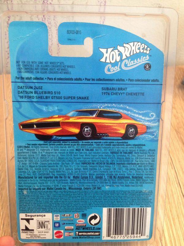 Hot Wheels Langka Cool Classics Datsun Bluebird 510 - posisi belakang 1