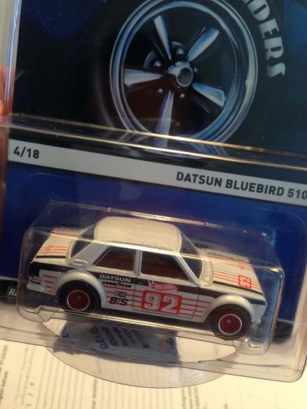 Hot Wheels Langka Datsun Bluebird 510 Real RIders tampak atas