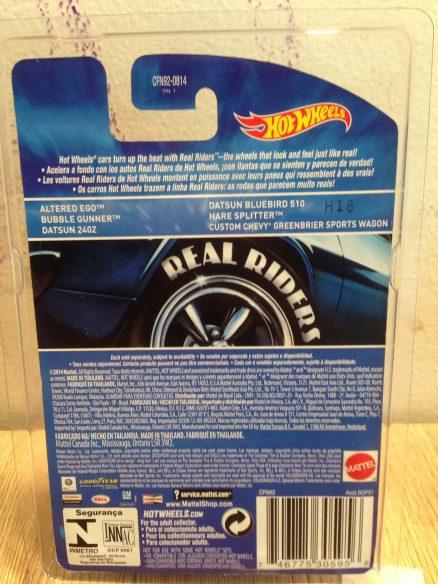 Hot Wheels Langka Datsun Bluebird 510 Real RIders tampak belakang