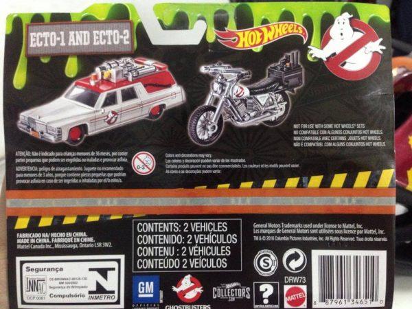 Hot Wheels Langka Ghostbusters Ecto 1 Ecto 2 tampak belakang