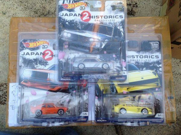 Hot Wheels Langka Japan Historics 2 Datsun BlueBird 510. Nissan Fairlady & Mazda RX-3