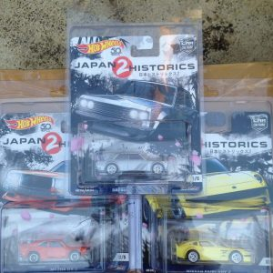 Hot Wheels Langka Japan Historics 2 Datsun BlueBird 510. Nissan Fairlady. Mazda RX-3