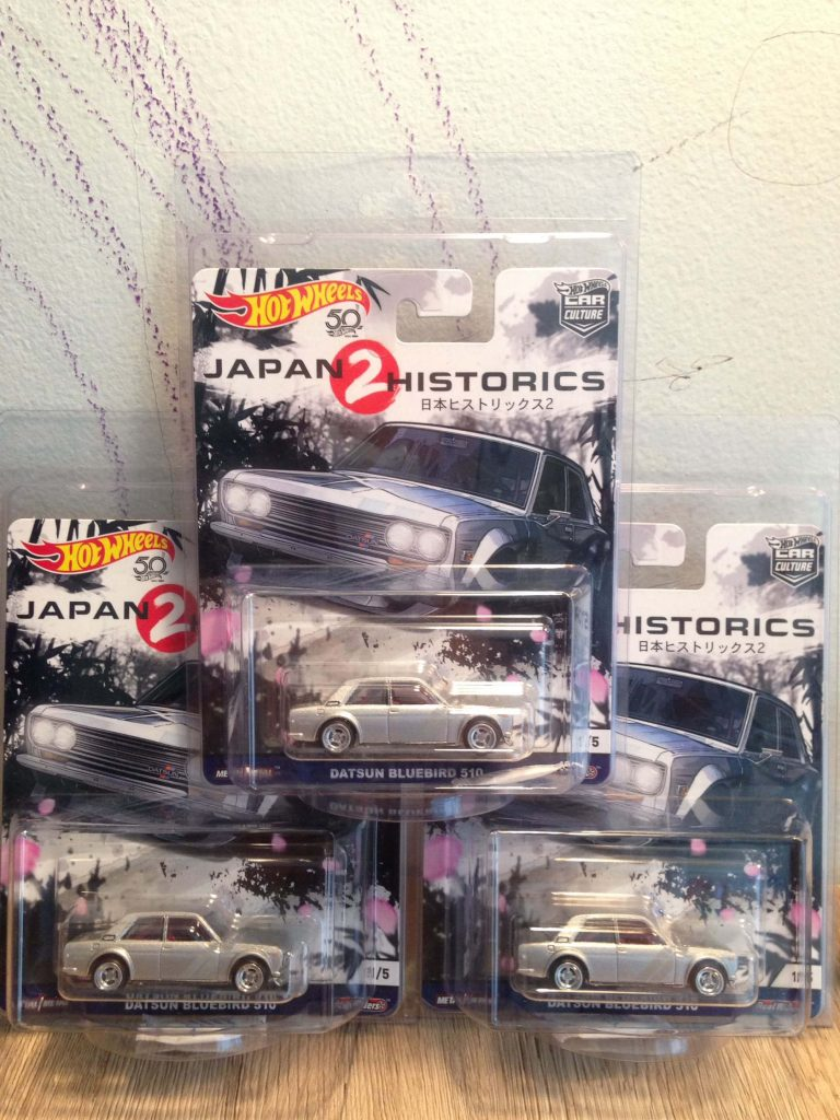 Hot Wheels Langka Japan Historics 2 car culture Datsun Bluebird 510 - Diecasnesia