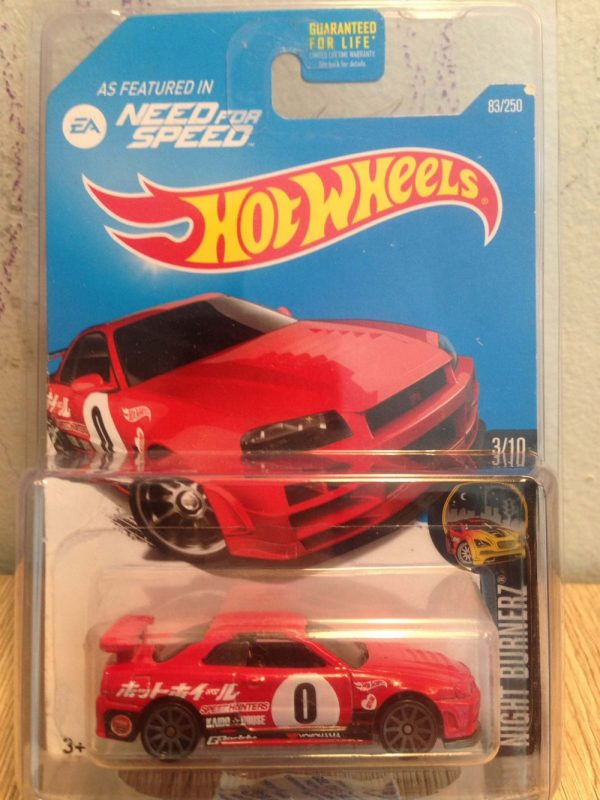 Hot Wheels Langka Nissan Skyline GT-R R34 Need for Speed US Card EA