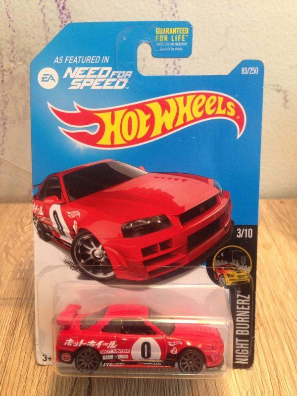 Hot Wheels Langka Nissan Skyline GT-R R34 Need for Speed