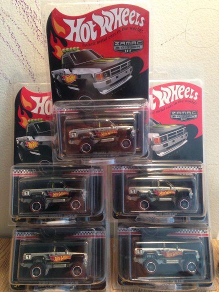 Hot Wheels Langka Toyota Pickup Zamac Edition 5 pcs
