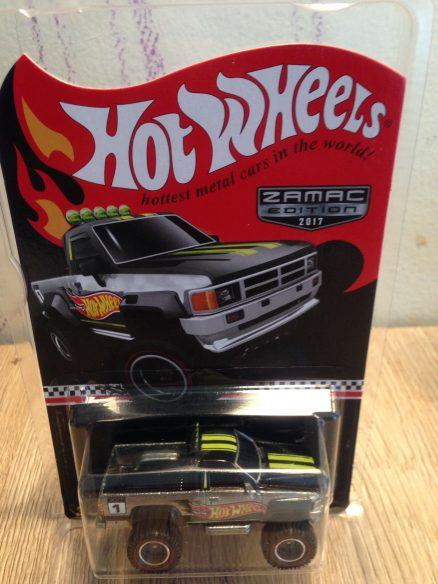 Hot Wheels Langka Toyota Pickup Zamac Edition tampak atas