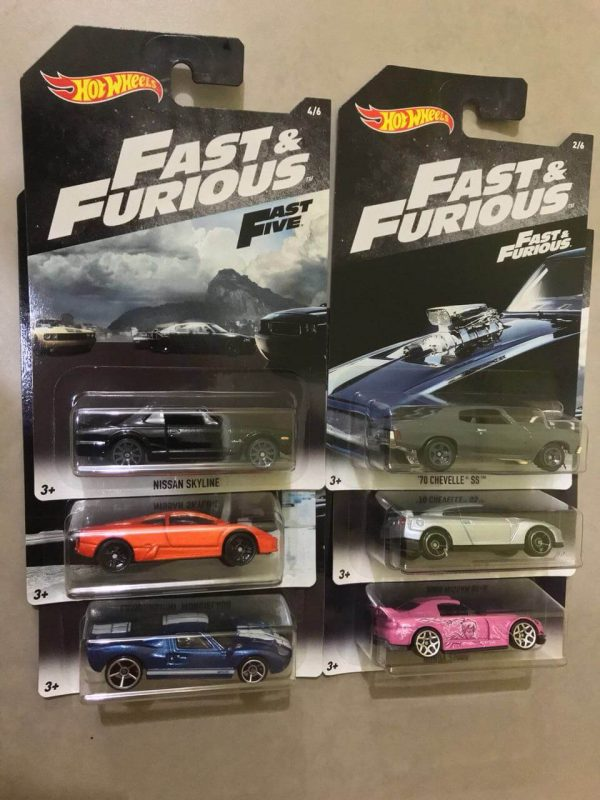 Mobil Hot Wheels Langka Fast Furious Fast Five Series 6 pcs