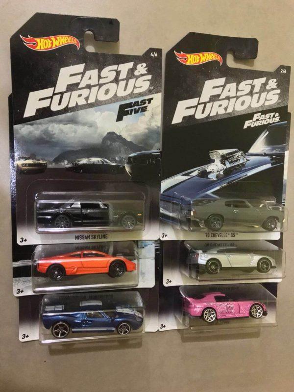Mobil Hot Wheels Langka Fast Furious Fast Five Series 6 pcs