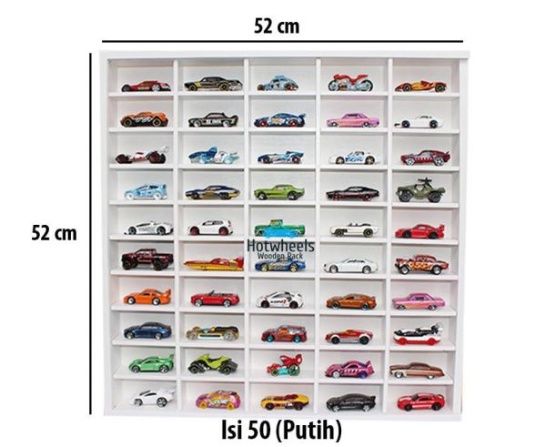 Rak Hot Wheels. Tomica. Matchbox. Diecast Skala 64 - putih 50