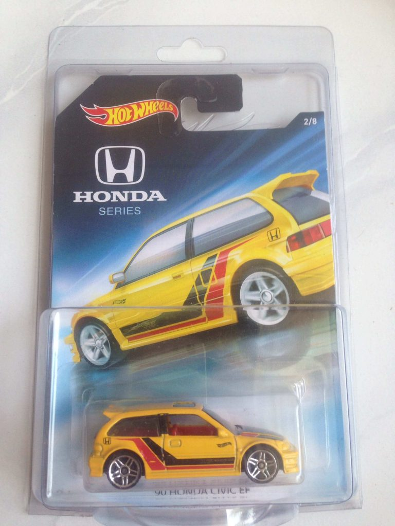 honda civic ef kuning - mobil hot wheels honda series