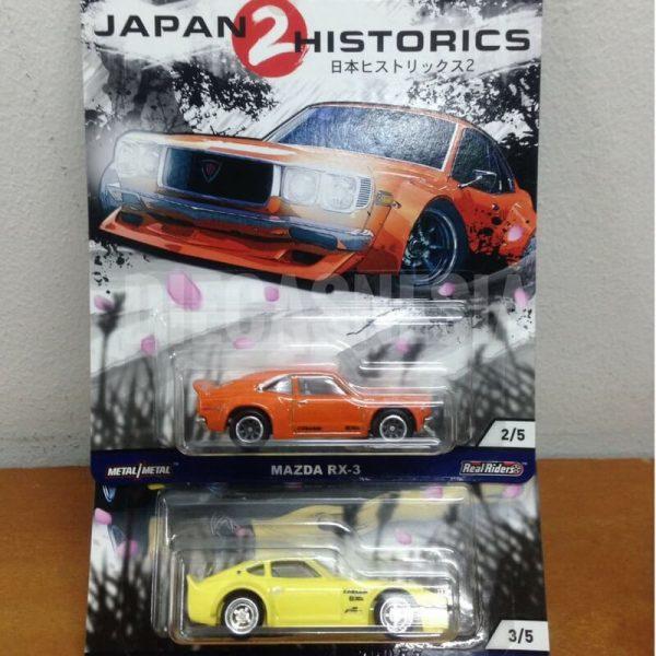 hot wheels japan historics 2 mazda rx-3 & nissan fairlady