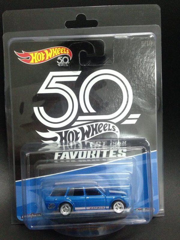 Mobil Hot Wheels Langka Datsun Bluebird Wagon 50th Favorites