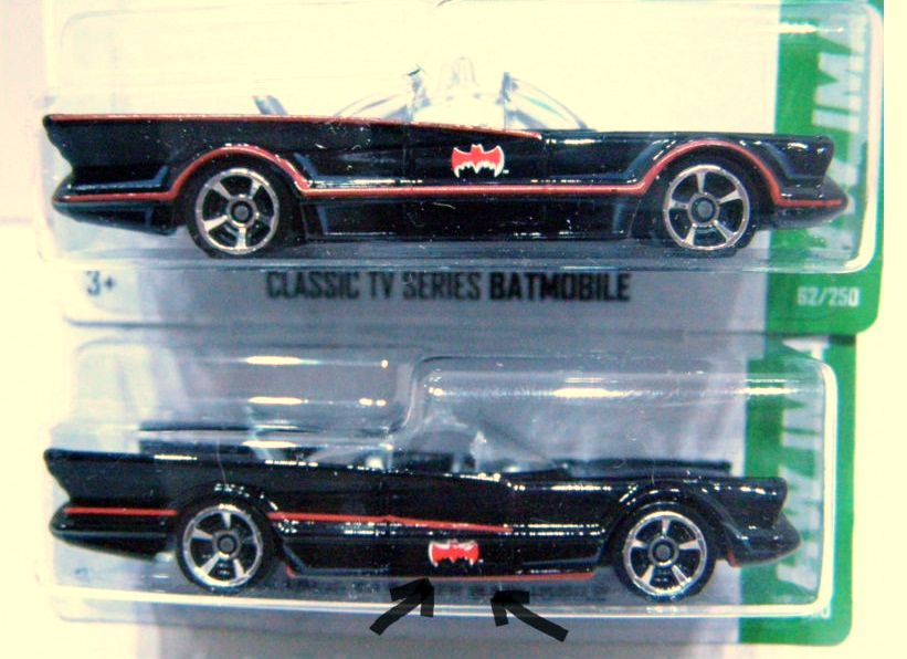 1966 Batmobile hot wheels langka Error Body Tampo