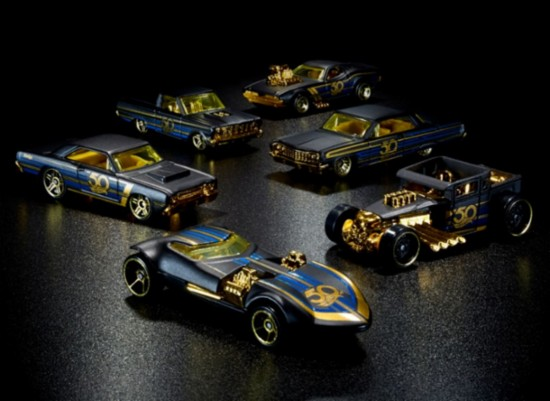 Koleksi Hot Wheels Langka 50th Black & Gold