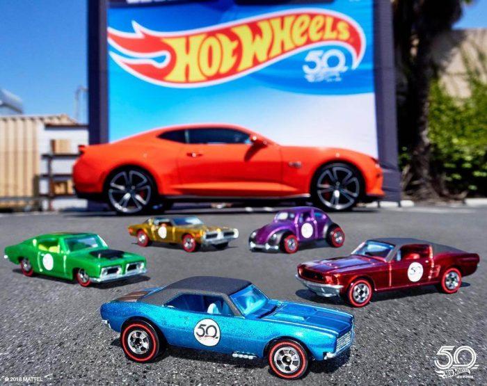Sejarah Mobil Hot Wheels 50th anniversary