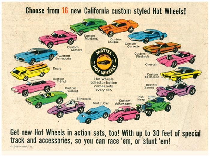 Sejarah Mobil Hot Wheels original sweet 16 1968