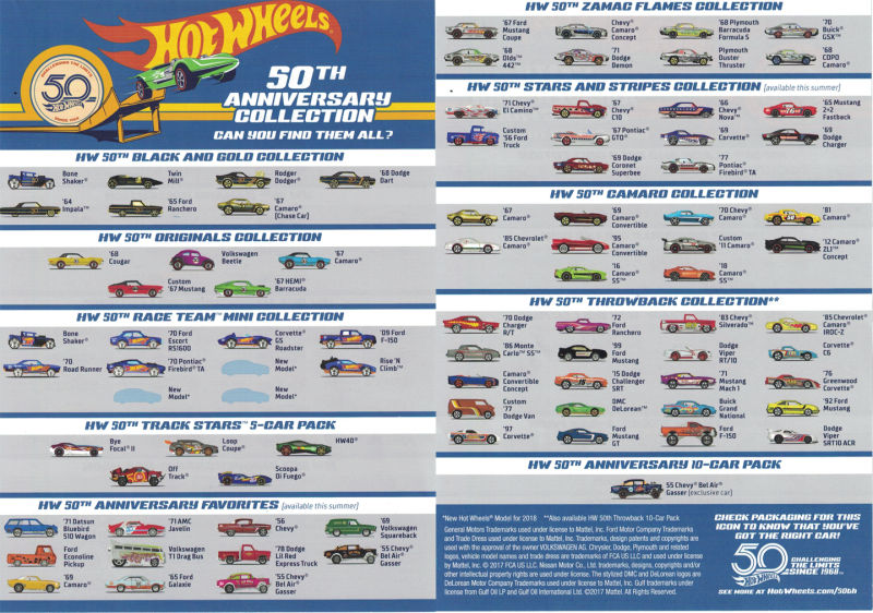hot wheels langka 50th anniversary collections
