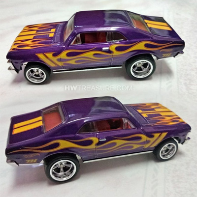 hot wheels langka super treasure hunt 68 Chevy Nova