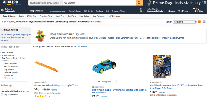 amazon jual beli mobil hot wheels langka