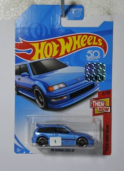 hot wheels langka honda civic ef kmart (biru)