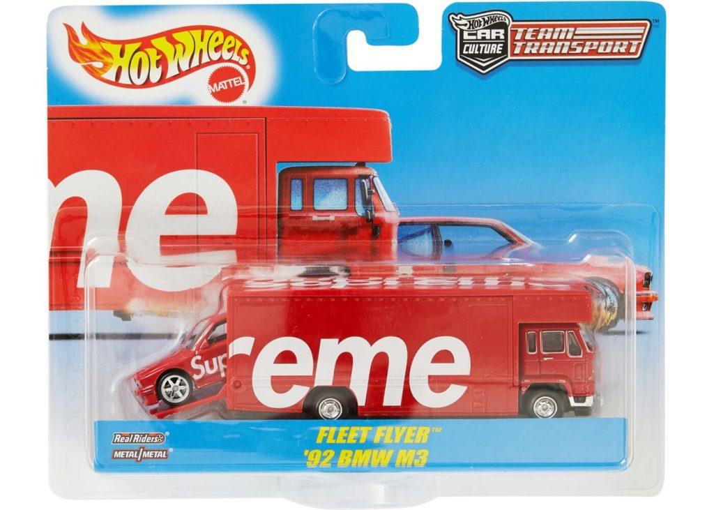 team transport Supreme Hot Wheels Fleet Flyer 1992 BMW M3 Red