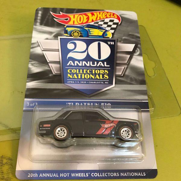 Hot Wheels Langka Collectors Nationals 20th 71' Datsun 510 Charlotte 2020