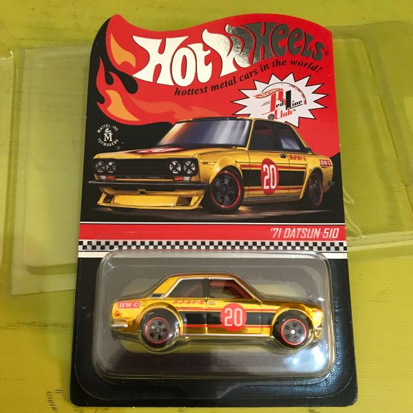 Hot Wheels Langka RLC 2020 Datsun 510 Gold