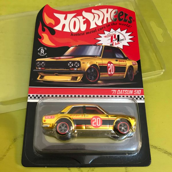 Hot Wheels Langka RLC 2020 Datsun 510 gold holo kecil
