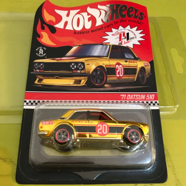Hot Wheels Langka RLC 2020 Datsun 510 Gold Holo Number Kecil